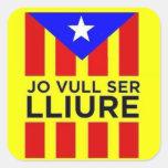 Bandera Estelada Catalana Colcomanias Cuadradas