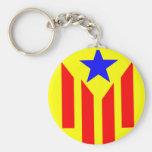 Bandera Estelada Catalana Llavero Redondo Tipo Pin