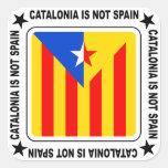 Bandera Estelada Catalana Pegatina Cuadrada