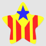 Bandera Estelada Catalana Pegatina En Forma De Estrella