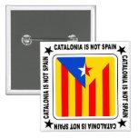 Bandera estelada Catalana Pin Cuadrado