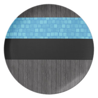 Bandera estonia del modelo moderno plato de cena