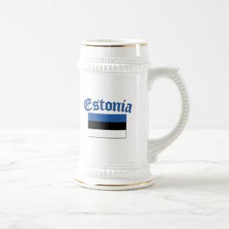 Bandera estonia jarra de cerveza
