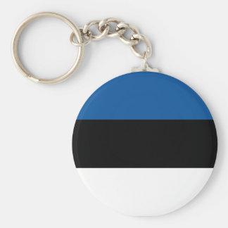 Bandera estonia llavero redondo tipo pin