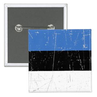 Bandera estonia rascada y rasguñada