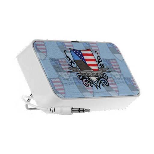 Bandera Estonio-Americana del escudo Altavoz De Viaje