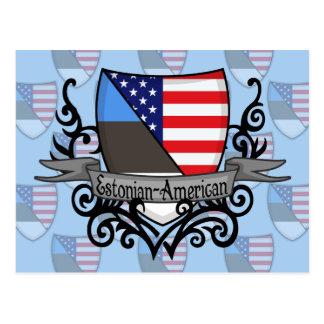 Bandera Estonio-Americana del escudo Postal