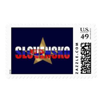 Bandera estupenda de las estrellas de Slovensko de Envio