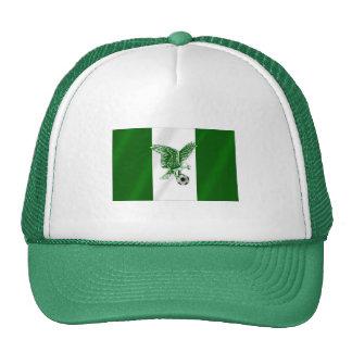 Bandera estupenda nigeriana de Eagles de Nigeria Gorros Bordados