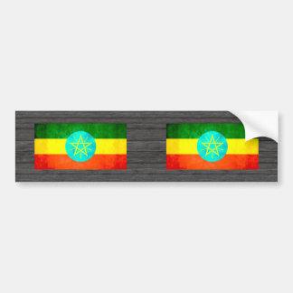 Bandera etíope del contraste colorido pegatina para auto