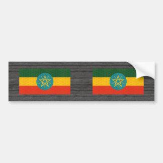 Bandera etíope del modelo del vintage pegatina para auto