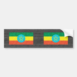 Bandera etíope del modelo moderno pegatina para auto
