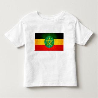 Bandera etíope nerviosa moderna playera de bebé