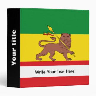 """Bandera etíope vieja carpeta 1 1/2"""""""