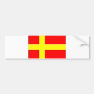 Bandera étnica de discurso sueca de los Finns Pegatina De Parachoque