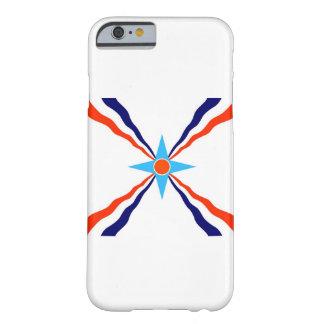 bandera étnica de la gente asiria funda de iPhone 6 barely there