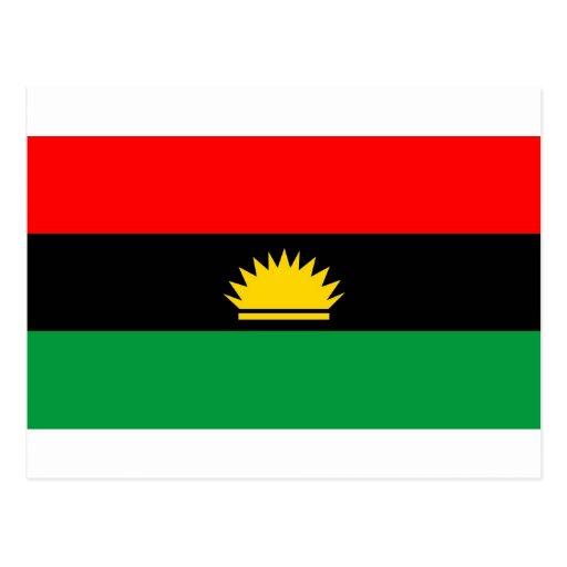 Bandera étnica de la gente de la minoría de la tarjeta postal
