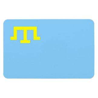 Bandera étnica de la gente tártara crimea imanes de vinilo