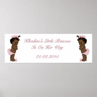 Bandera étnica de la princesa fiesta de bienvenida póster