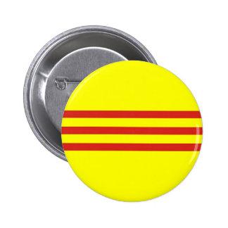 bandera étnica del sur de Vietnam Pin Redondo De 2 Pulgadas
