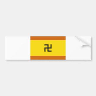 Bandera étnica Panamá de Kuna Yala Etiqueta De Parachoque