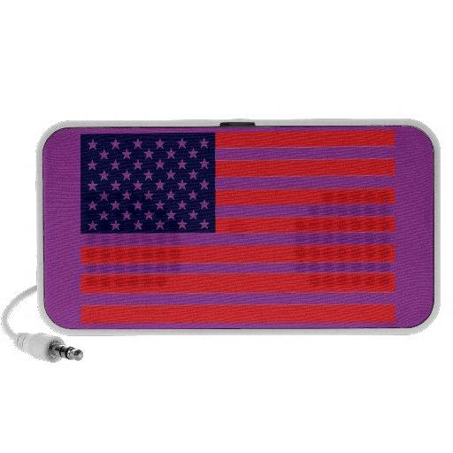 Bandera excelente americana del color del Yanqui-D iPod Altavoz
