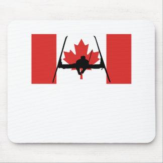 Bandera extrema del canadiense del esquiador tapete de ratones