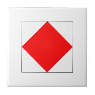 Bandera F del ICS Azulejo Cuadrado Pequeño