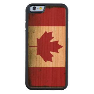 Bandera fangosa de Canadá Funda De iPhone 6 Bumper Cerezo
