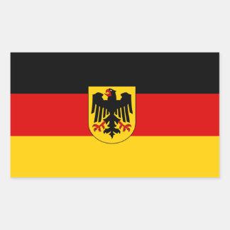 Bandera federal de Alemania Pegatina Rectangular