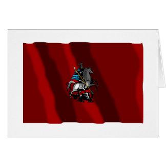 Bandera federal de la ciudad de Moscú Tarjeta De Felicitación