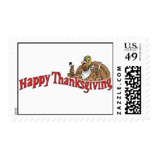 Bandera feliz de Turquía de la acción de gracias Timbre Postal