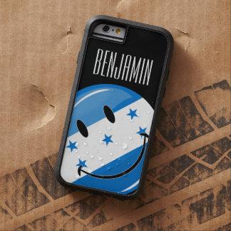 Bandera feliz redonda brillante del Honduran Funda De iPhone 6 Tough Xtreme