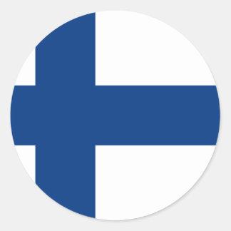Bandera FI de Finlandia Pegatinas Redondas
