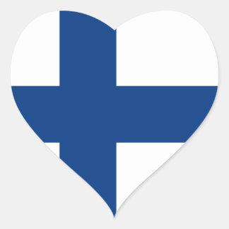 Bandera FI de Finlandia Pegatina De Corazon Personalizadas