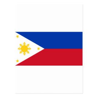 Bandera filipina, bandera nacional de las islas postal