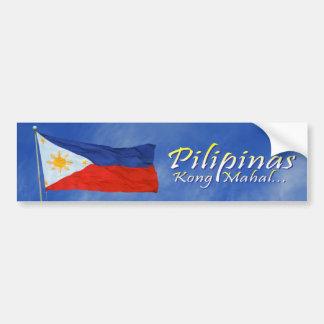 Bandera filipina pegatina de parachoque