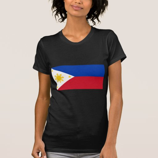 Bandera filipina camisetas