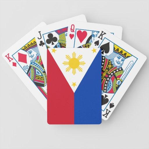 Bandera filipina cartas de juego