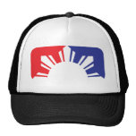 Bandera filipina de la primera división - media gorras de camionero