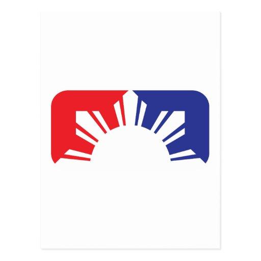 Bandera filipina de la primera división - media postales