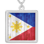 Bandera filipina de madera colgantes