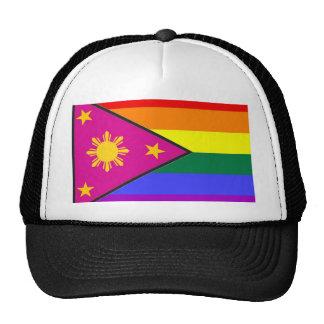 Bandera filipina del orgullo de GLBT Gorras