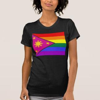 Bandera filipina del orgullo de GLBT Playera