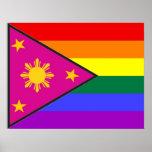 Bandera filipina del orgullo de GLBT Posters