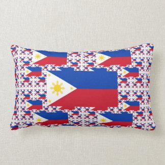 Bandera filipina en capas múltiples almohada