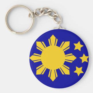¡Bandera filipina - orgullosa ser Pinoy! Llavero Redondo Tipo Pin