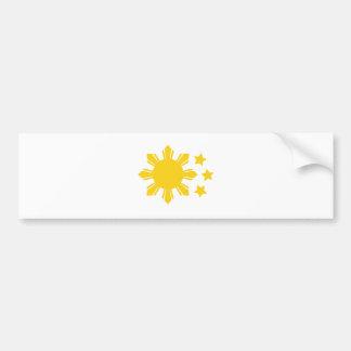 ¡Bandera filipina - orgullosa ser Pinoy! Pegatina Para Auto