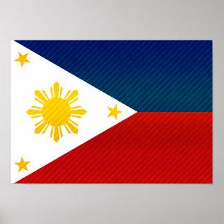 Bandera filipina pelada moderna poster