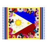 Bandera filipina Postard Postal